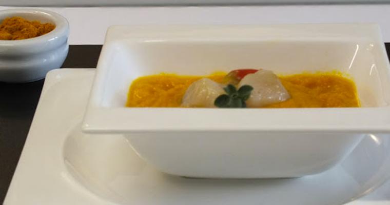 Crema di carote e curcuma. Grazie Carlo Cracco!