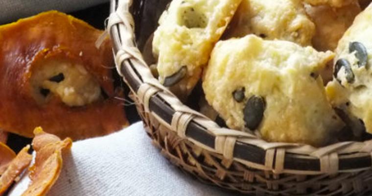 Cookies con fontina di Malga e chips di zucca