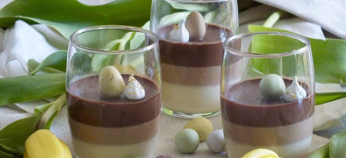 Panna cotta au chocolat parfumée au combava