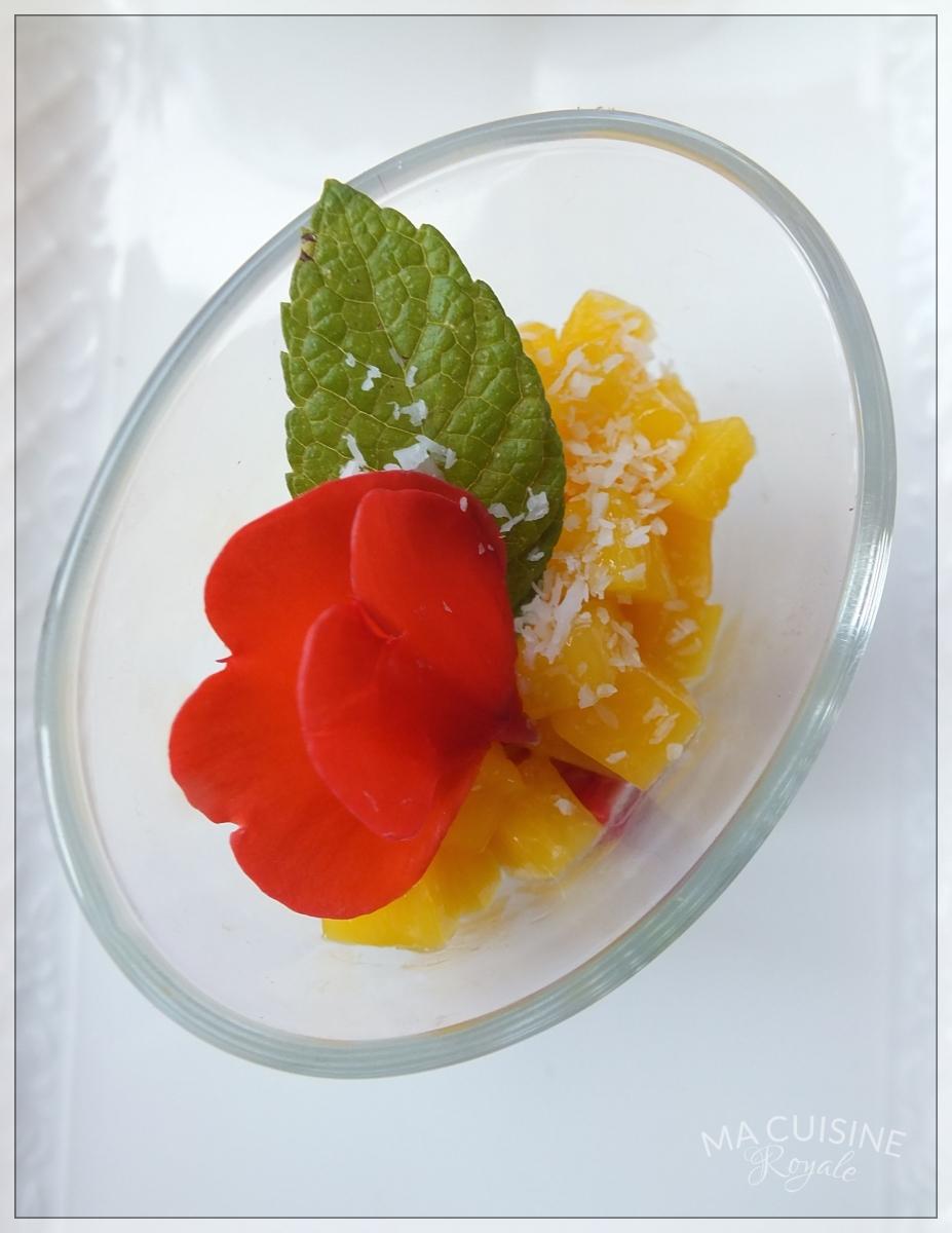Panna cotta au lait de noix de coco et mangue ma cuisine for Cuisine royale