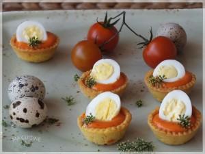 crostatine alla maionese di pomodoro e uova quaglia 8